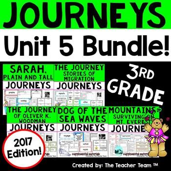 Journeys 3rd Grade Unit 5 Supplemental Activities & Printables 2017