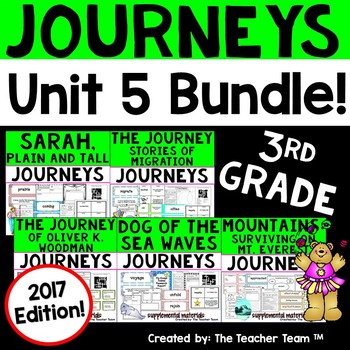 Journeys 3rd Grade Unit 5 Supplemental Printables 2017 or 2014