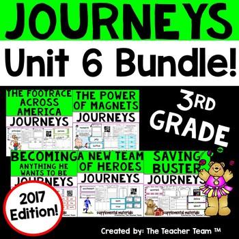 Journeys 3rd Grade Unit 6 Supplemental Activities & Printables 2017