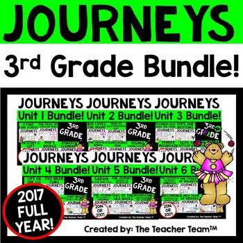 Journeys 2017 3rd Grade Units 1-6 Supplemental Materials Full Year