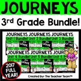 Journeys 3rd Grade Unit 1-6 Full Year Bundle Supplemental Materials 2017 or 2014