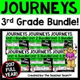 Journeys 3rd Grade Unit 1 - Unit 6 Printables Year Bundle 2017