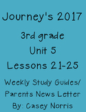 Journeys 2017 3rd Grade Weekly Study Guide Unit 5