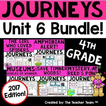 Journeys 4th Grade Unit 6 Supplemental Activities & Printables 2017