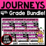 Journeys 4th Grade  Unit 1 - Unit 6  Year Printables Bundle | 2017
