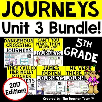 Journeys 5th Grade Unit 3 Supplemental Activities & Printables 2017
