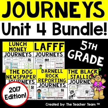 Journeys 5th Grade Unit 4 Supplemental Activities & Printables 2017