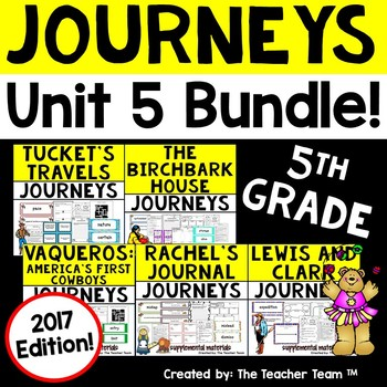 Journeys 5th Grade Unit 5 Supplemental Activities & Printables 2017