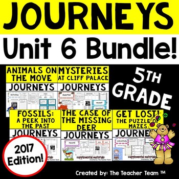 Journeys 5th Grade Unit 6 Supplemental Activities & Printables 2017