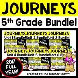 Journeys 5th Grade Unit 1 - Unit 6 Year Printables Bundle | 2017 or 2014