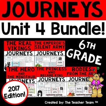 Journeys 6th Grade Unit 4 Supplemental Activities & Printables 2017