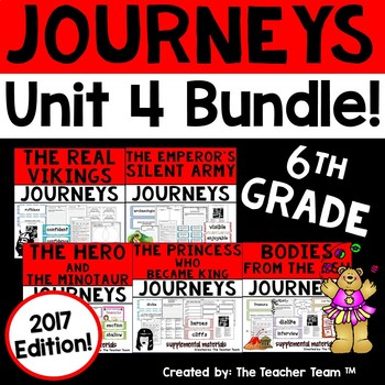 Journeys 2017 6th Grade Unit 4 Supplemental Materials