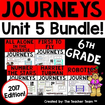 Journeys 6th Grade Unit 5 Supplemental Activities & Printables 2017