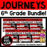 Journeys 6th Grade Units 1-6 Full Year Bundle Supplemental Materials 2017
