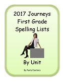 Journeys 2017 - First Grade Spelling lists for the year - Editable