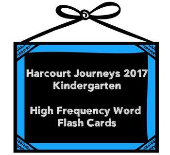 Kindergarten Journeys 2017 Flash Cards