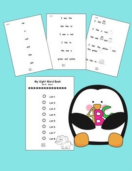 Kindergarten Sight Word Reader Freebie