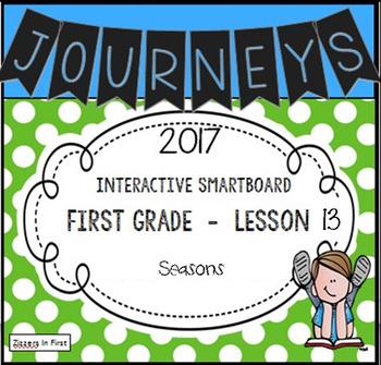 Journeys 2017 Lesson 13 First Grade Interactive Smartboard Slides