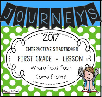 Journeys 2017 Lesson 18 First Grade Interactive Smartboard Slides