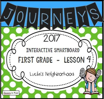Journeys 2017 Lesson 4 First Grade Interactive Smartboard Slides