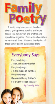 Journeys 2017 Second Grade Unit 1.2 Mi Familia and Family Poetry Flipcharts