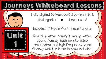 Kindergarten Journeys 2017 Unit 1 Lessons