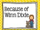 Journeys (2017) - Unit 1 – Lesson 1 – Focus Wall - Because of Winn-Dixie