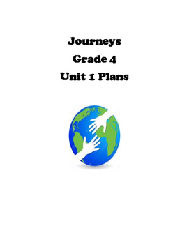 Journeys (HMH) Unit 1 Lesson Plans Grade 4