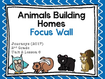 Journeys: Focus Wall - Unit 2 Lesson 6 – Animals Building Homes