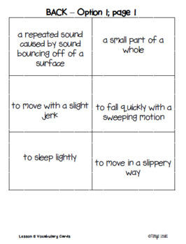 Journeys 2017 - Unit 2 Vocabulary Cards - Third Grade