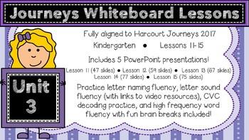 Kindergarten Journeys 2017 Unit 3 Lessons