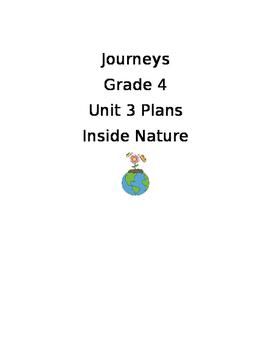 Journeys 2017 Unit 3 Plans Grade 4