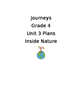 Journeys 2017 Unit 3 Plans Grade 4
