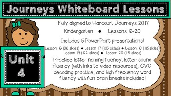 Kindergarten Journeys 2017 Unit 4 Lessons