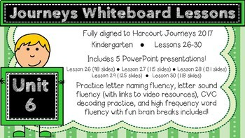Kindergarten Journeys 2017 Unit 6 Lessons