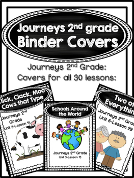 Journeys 2nd Grade Binder Covers