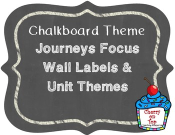 Journeys 2nd Grade- Chalkboard Focus Wall