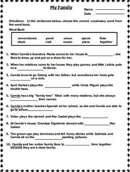Journeys 2nd Grade Cloze Fill in the Blank Worksheets Units 1 - 6 2011 Version