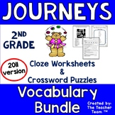 Journeys 2nd Grade Cloze Worksheet-Crossword Puzzles Bundle 2011 (Full Year)