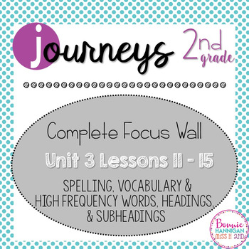 Journeys 2nd Grade Complete Unit 3 Focus Wall