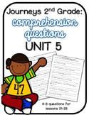Journeys 2nd Grade Comprehension Questions UNIT 5