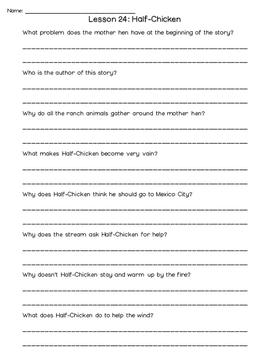 Journeys 2nd Grade Comprehension Questions UNIT 5