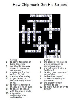 Journeys 2nd Grade Crossword Puzzles Units 1 - 6 Full Year 2011