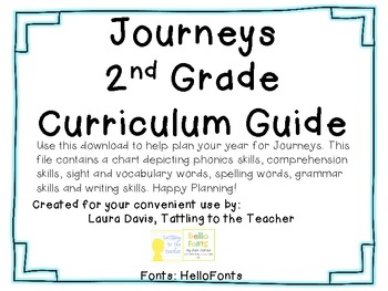Journeys Common Core 2nd Grade Curriculum Guide