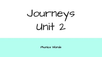 Journeys 2nd Grade Daily Phonics Words Unit 2