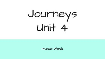 Journeys 2nd Grade Daily Phonics Words Unit 4