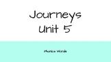Journeys 2nd Grade Daily Phonics Words Unit 5