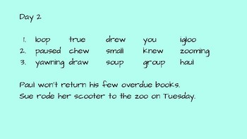 Journeys 2nd Grade Daily Phonics Words Unit 6