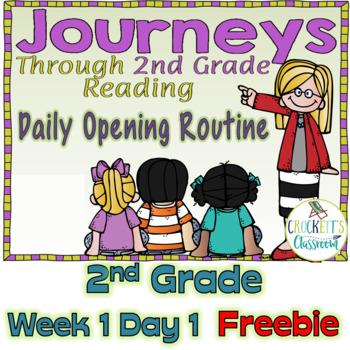 Journeys 2nd Grade Daily Routine, Freebie Week 1 Day 1