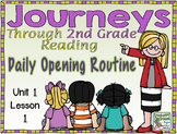 Journeys 2nd Grade Daily Routine, Unit 1  (For Google Classroom)